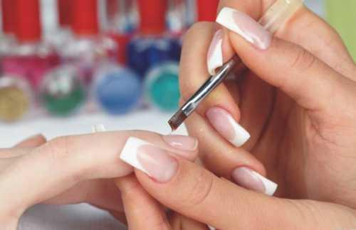 наращивание ногтей на типсы гелем и акрилом пошагово